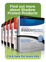 ShadowProtect boxed products.
